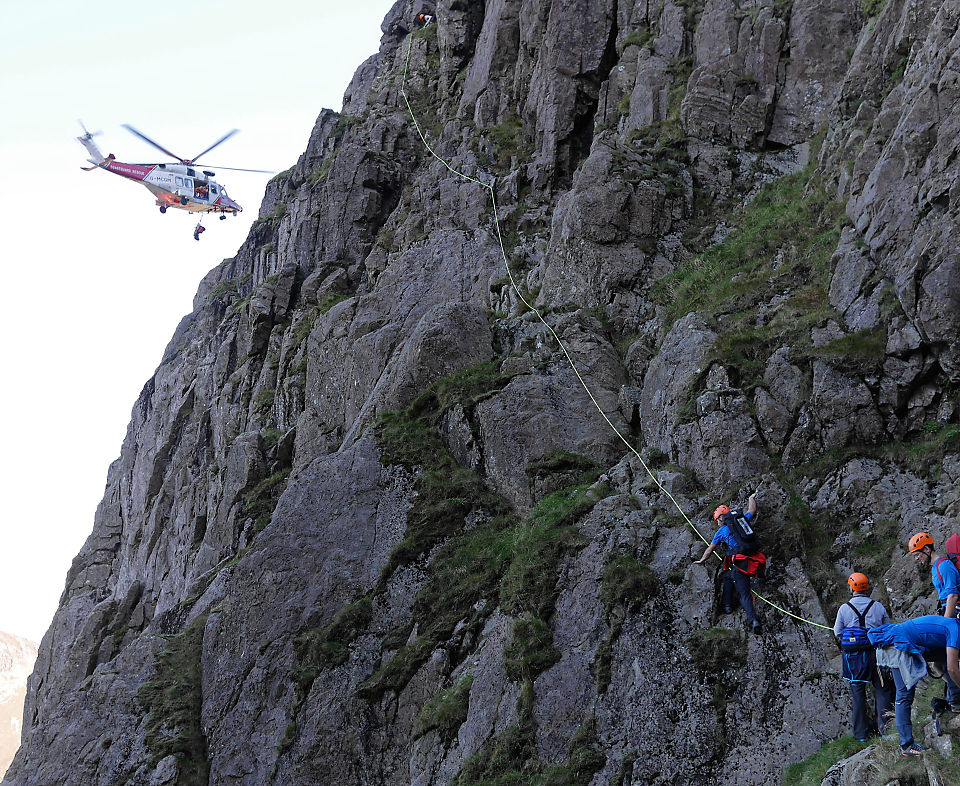 Pillar Rock rescue Sep 2019, a climber fell on one of the highest rock crags in England